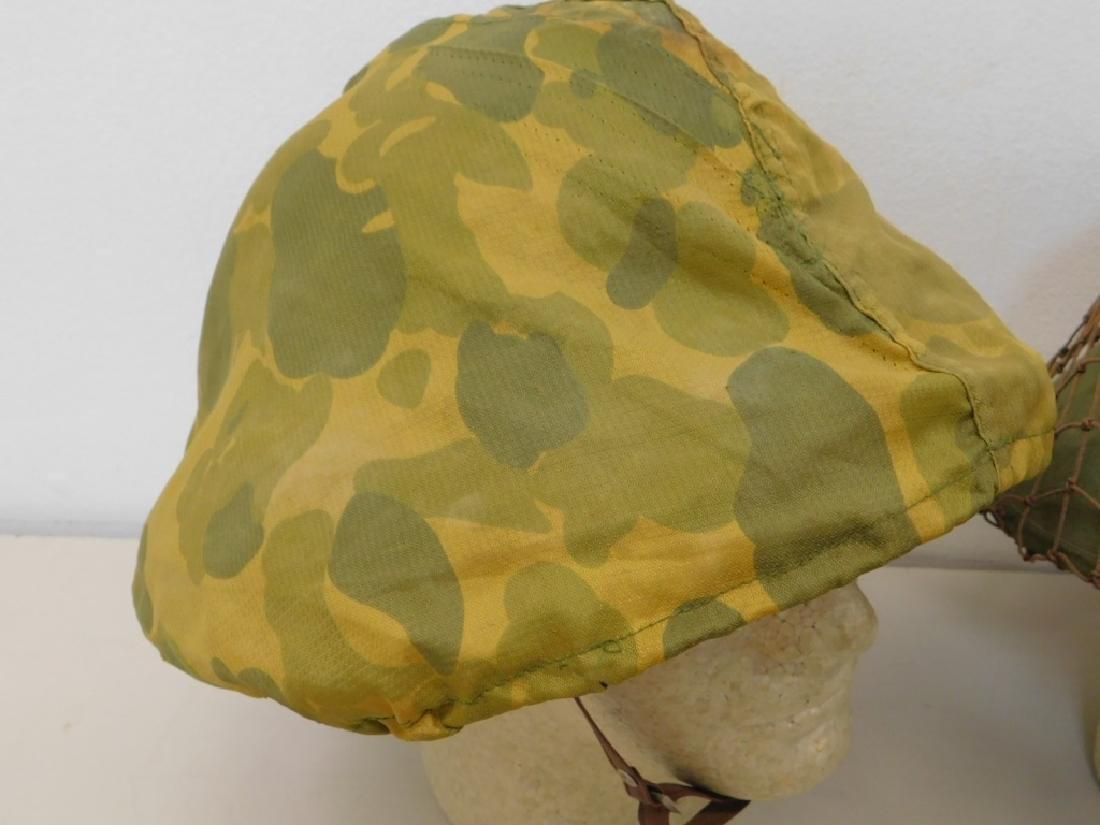 Vietnam War Viet Cong Sun Helmets in Tan & Green - 2