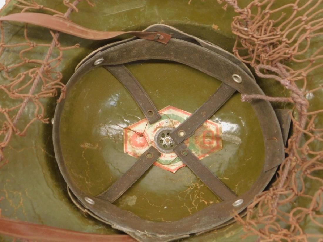 Vietnam War Viet Cong Sun Helmets in Tan & Green - 5