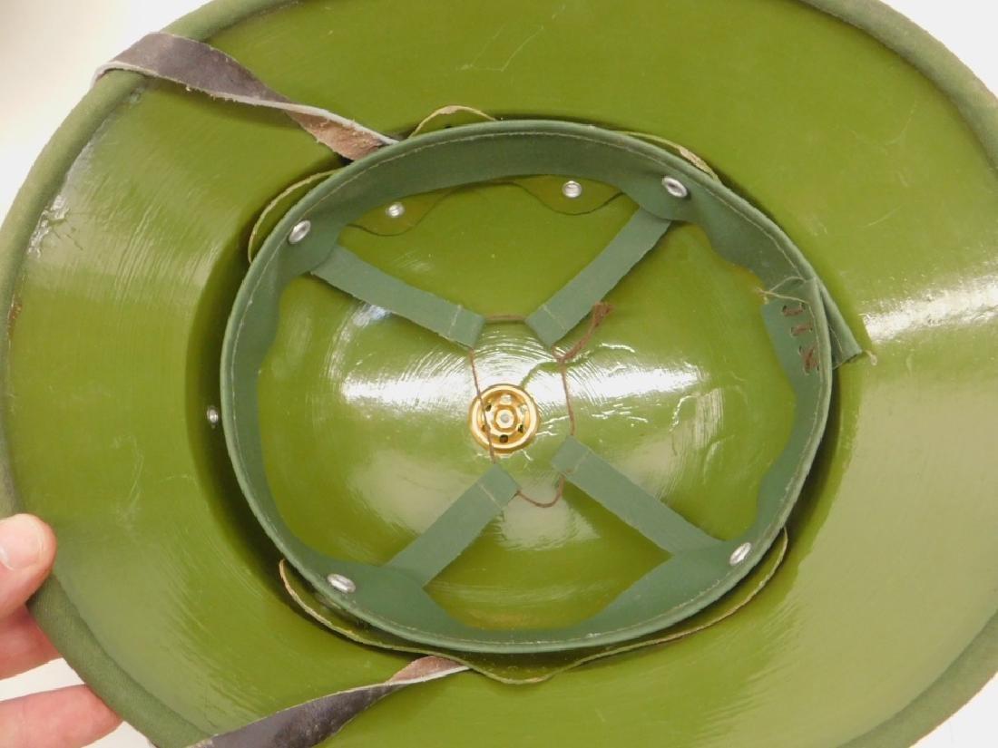 Vietnam War Viet Cong Sun Helmets in Tan & Green - 8