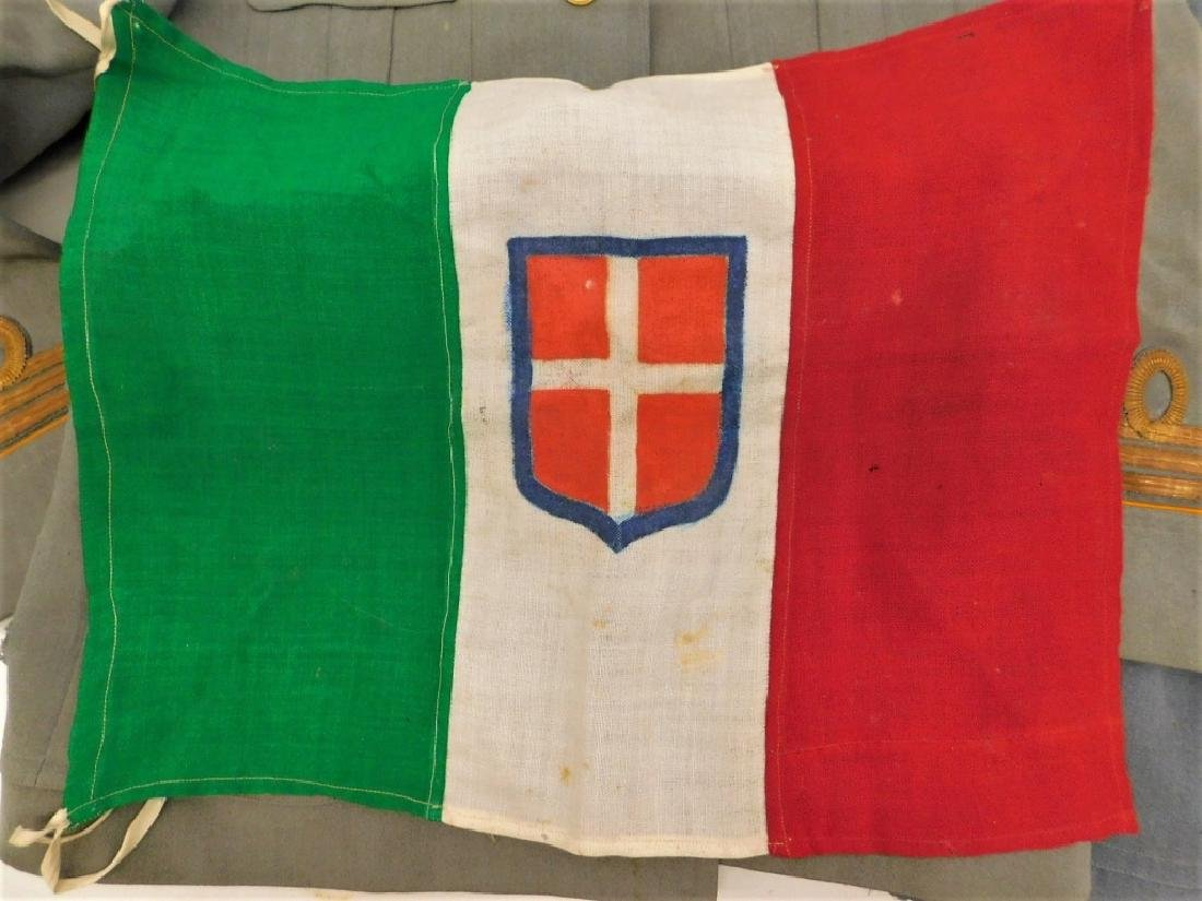 WWII Italian Military Uniforms with Ribbons/ Flags - 2