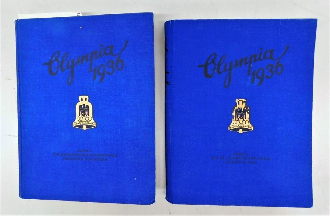 WWII German 1936 Olympic Games Books Vol 1 & 2