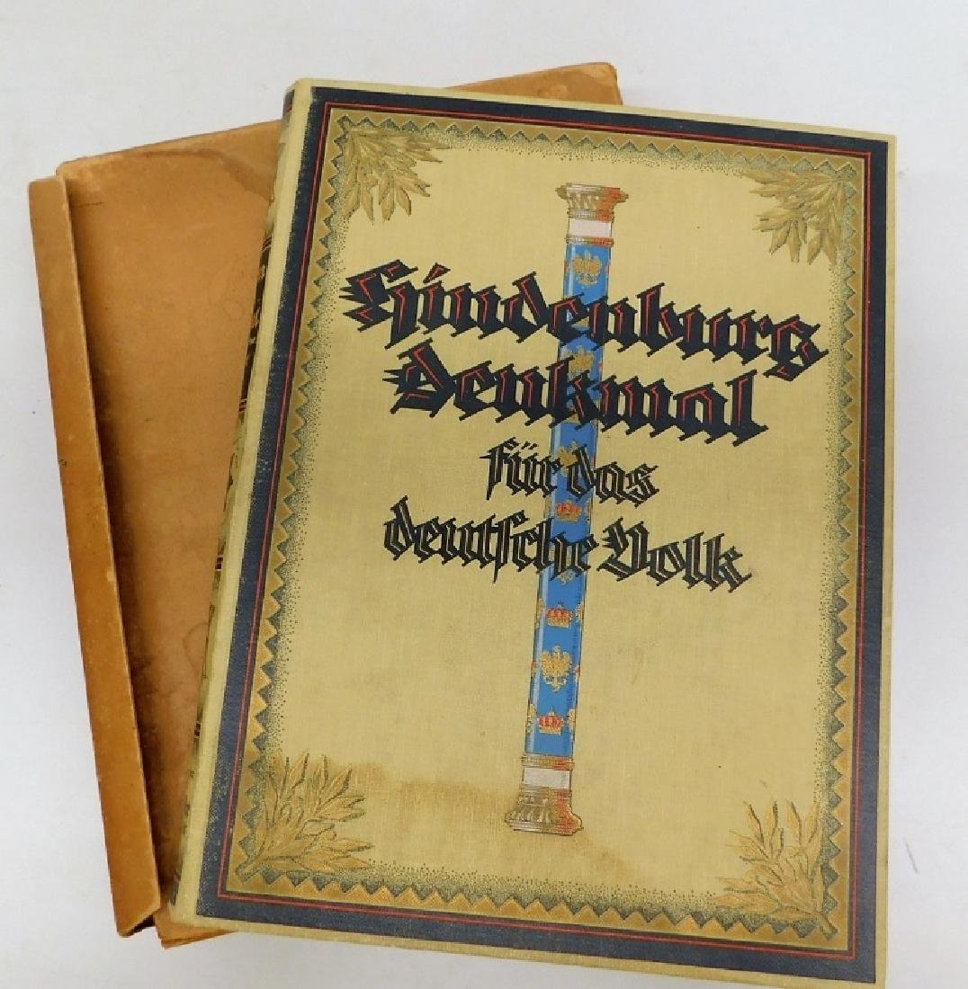 WWII German Commemorative Book For Paul Hindenburg