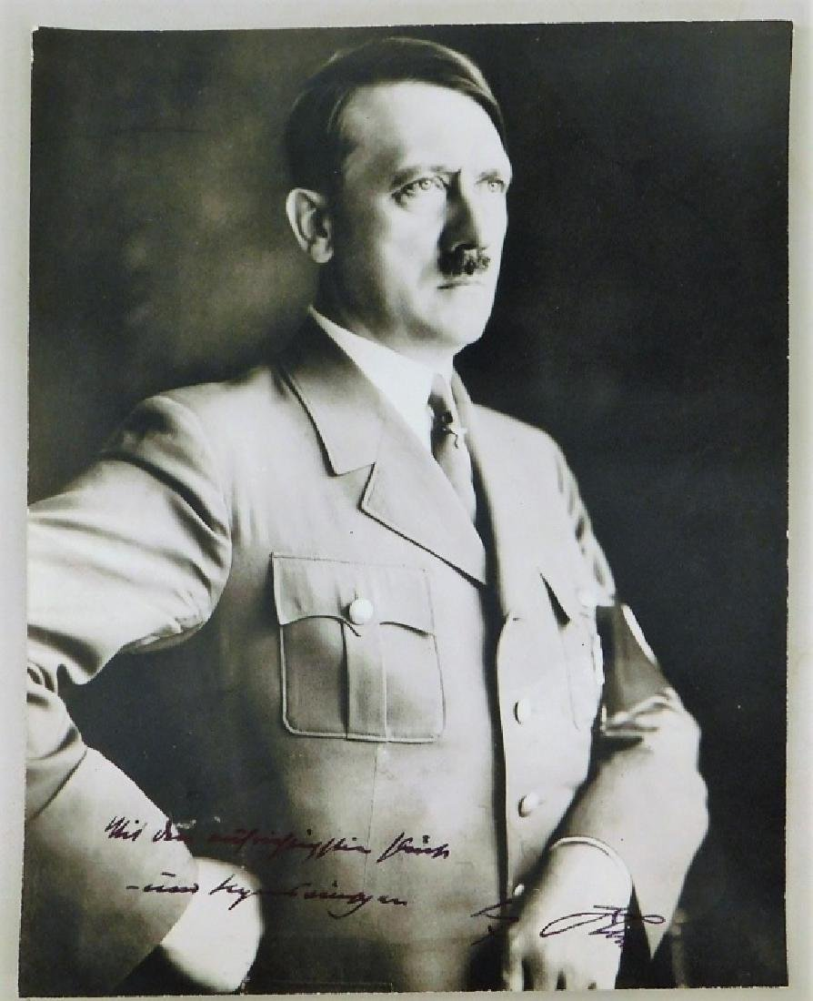 WWII German Adolf Hitler Signed Photograph