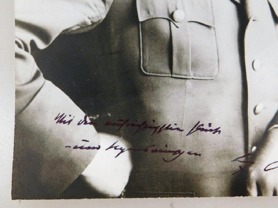 WWII German Adolf Hitler Signed Photograph - 3