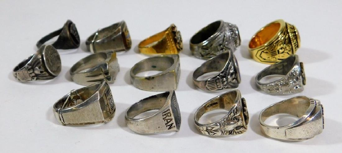 WWII - Present U.S. Army Theater Made Silver Rings - 2