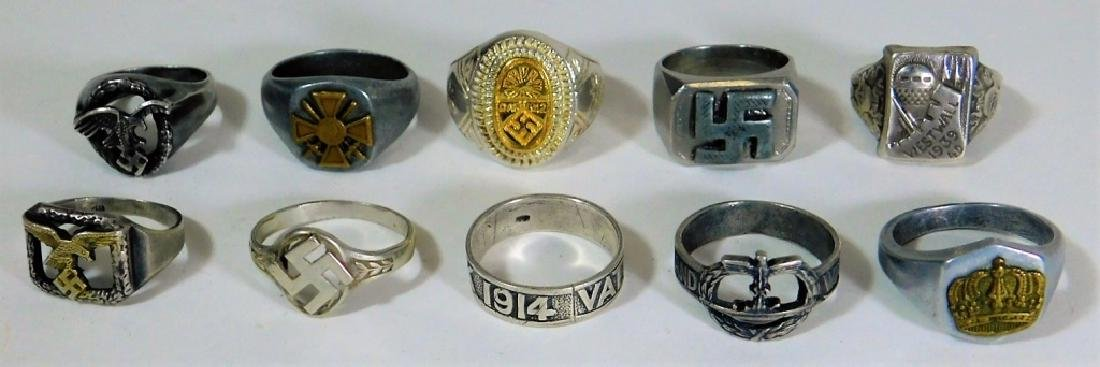 WWI - WWII German Military Rings (10)