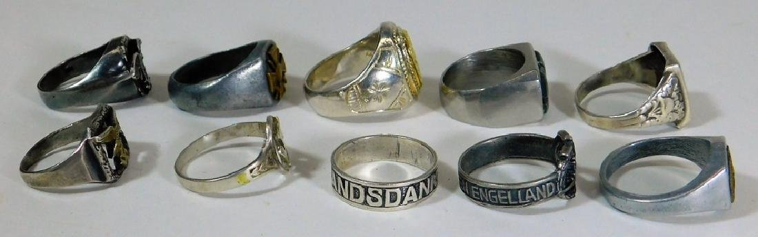 WWI - WWII German Military Rings (10) - 2