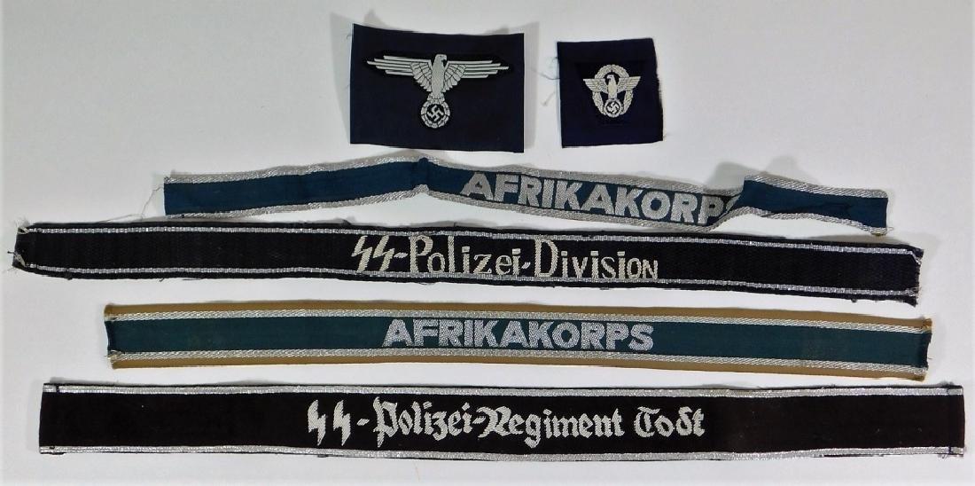 WWII Type German Cuff Titles & SS Insignia