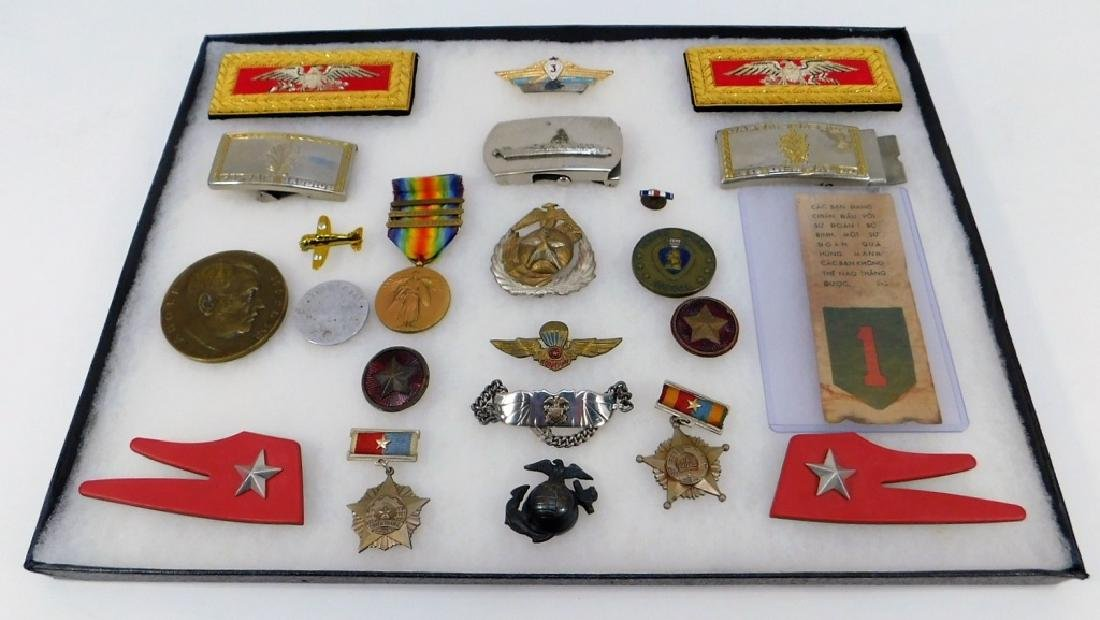 Miscellaneous Military Medals Buckles Pins