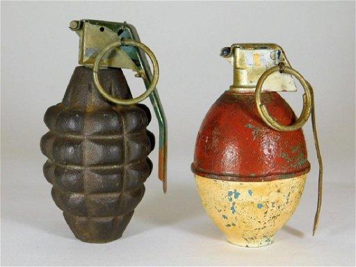 WWII Pineapple & M26 RFX55 Inert Hand Grenades