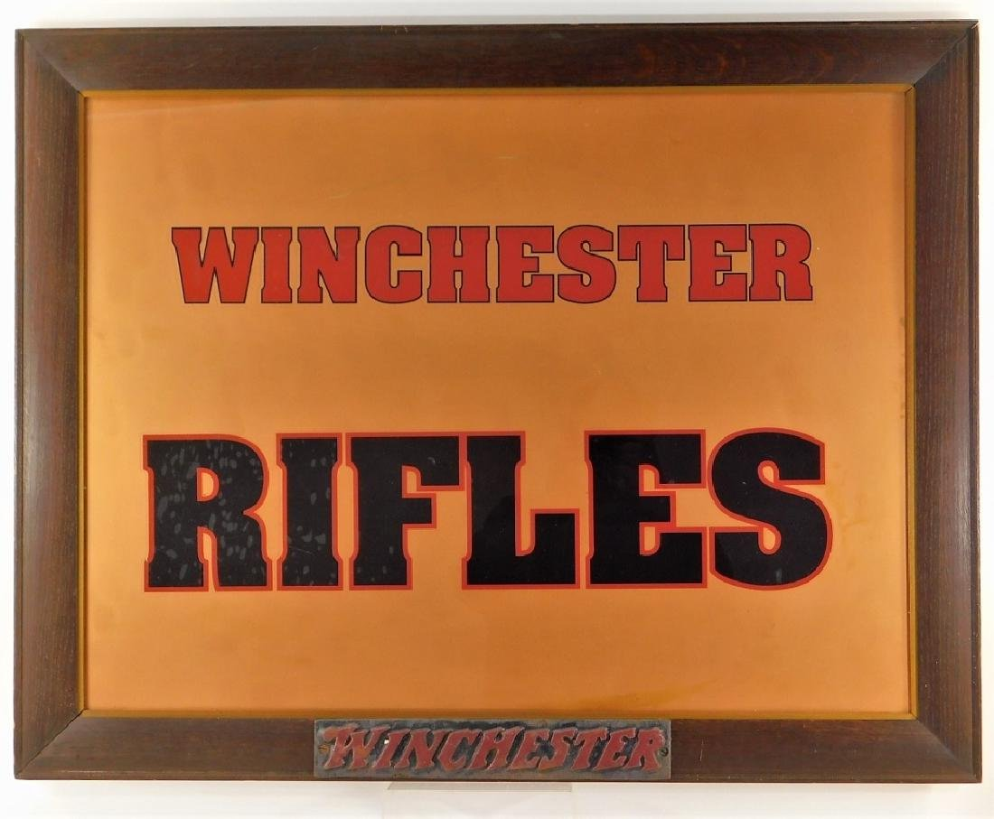 Winchester Rifle Advertising Sign