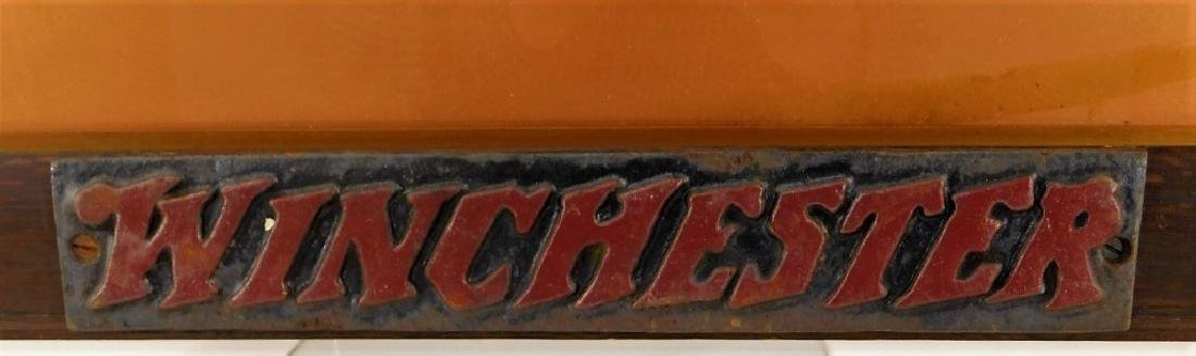 Winchester Rifle Advertising Sign - 2