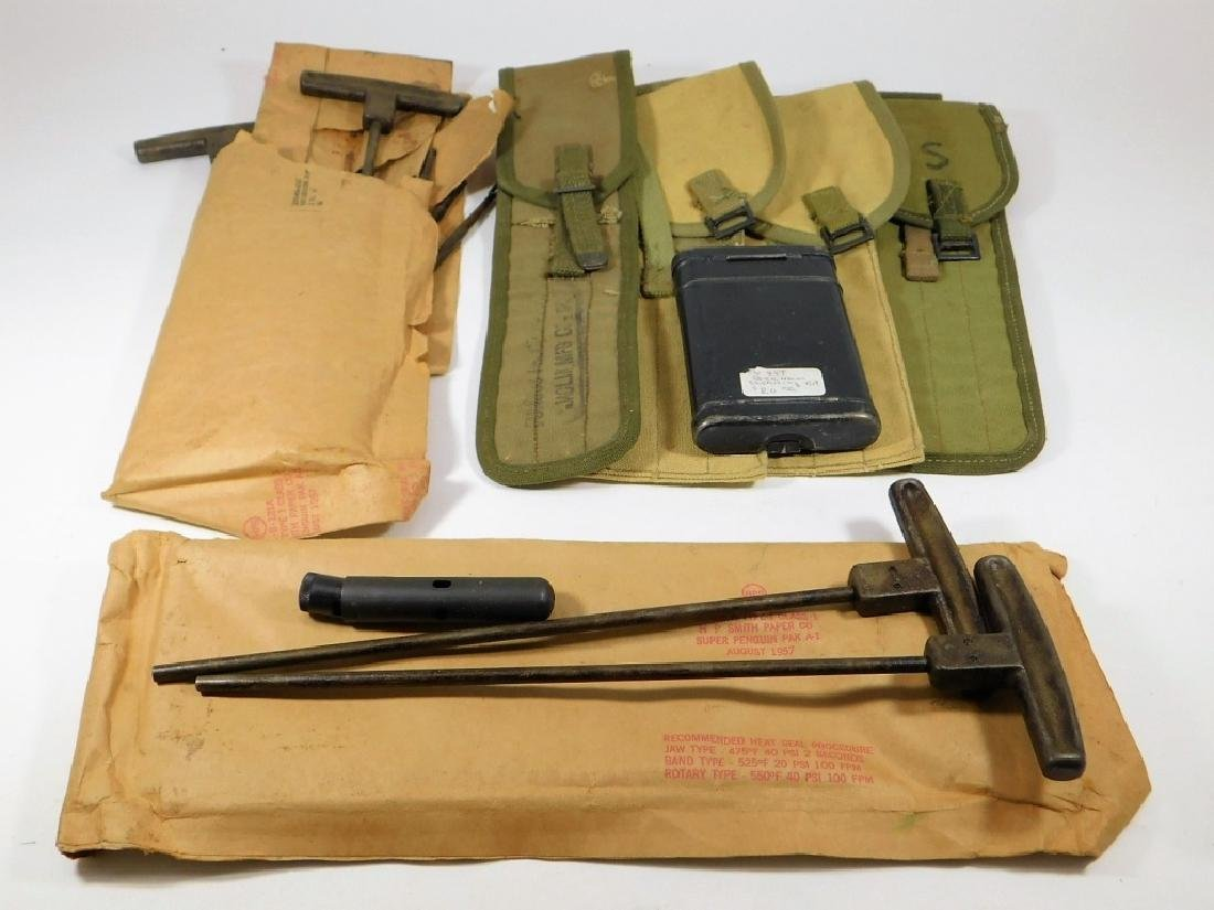 WWII 30CAL Cleaning Rods and Pouches