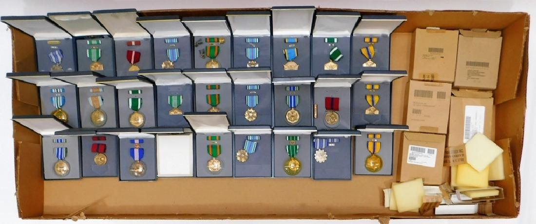 U.S. Military Medals (27) All Cased 1990 - 2017