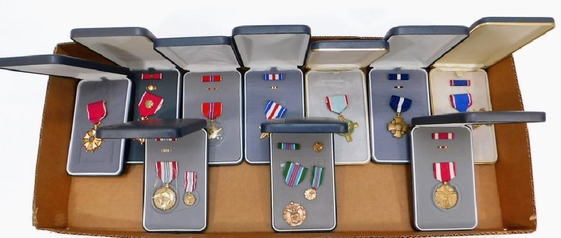 U.S. Military Cased Medals Lot 1960 - 1990