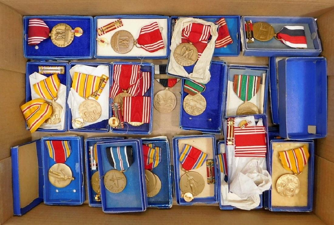 WWII U.S. Military Boxed Medals Lot