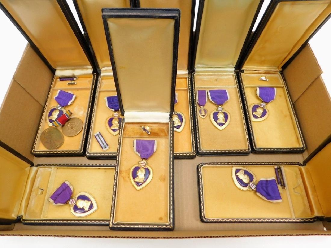 WWII U.S. Military Issue Purple Heart Medals