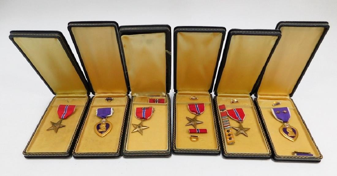 WWII Named Purple Hearts & Bronze Star Medals 6
