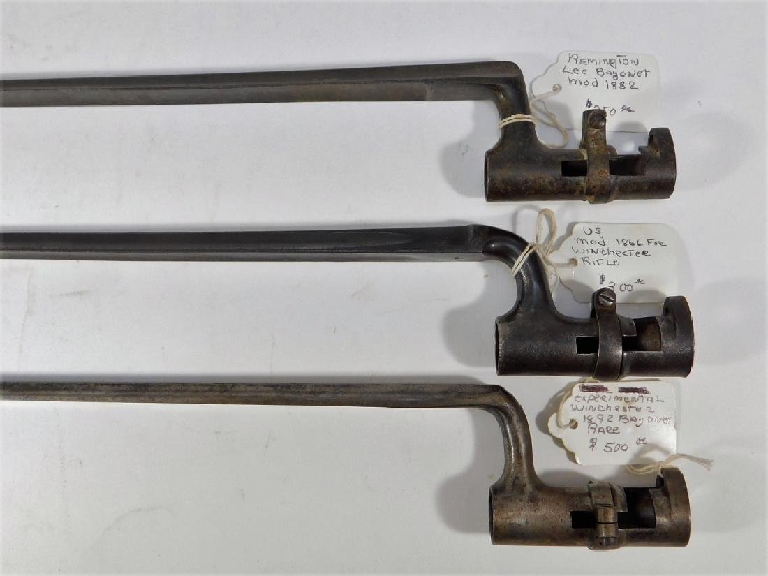 Winchester & Remington 19th C. Spike Bayonets (3)