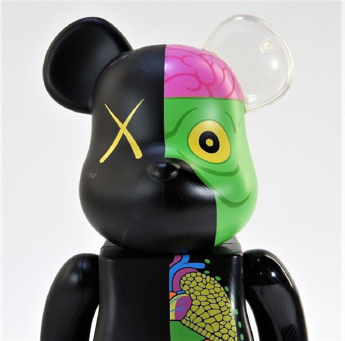 KAWS X BE@RBRICK Dissected Companion 400% Black - 5