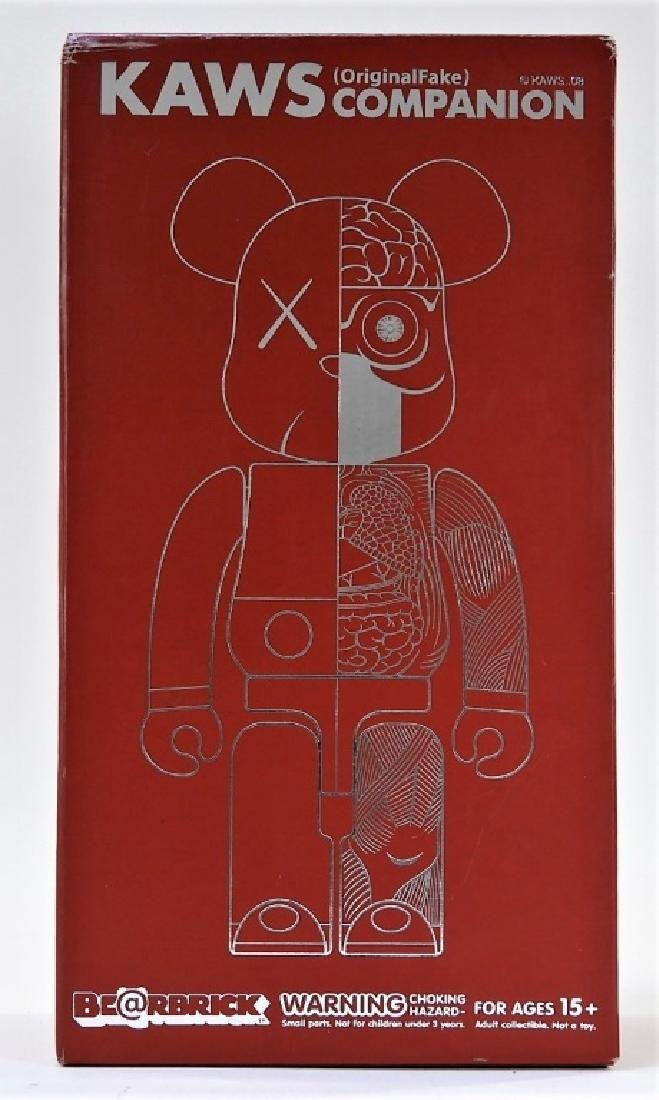 KAWS X BE@RBRICK Dissected Companion 400% Red