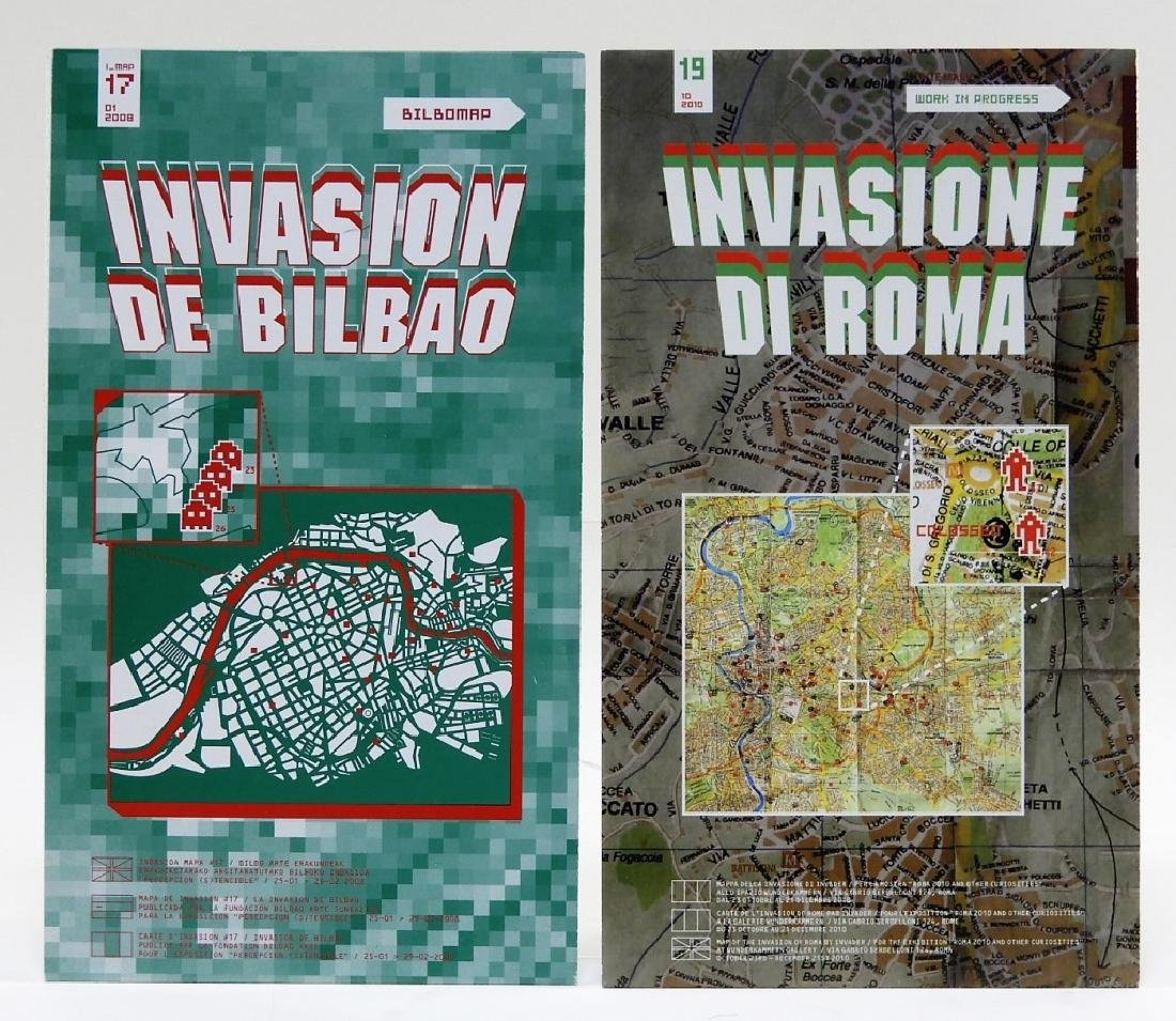 Invader Invasion of Bilbao & Spain Location Maps