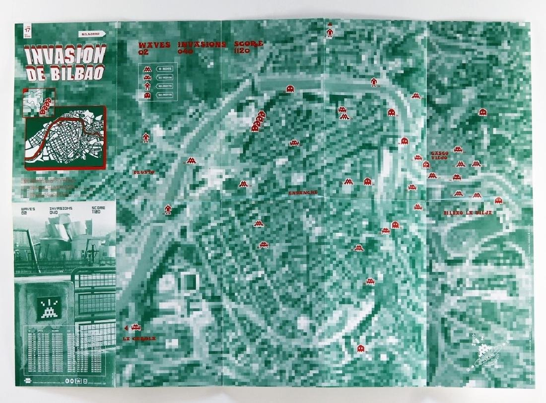 Invader Invasion of Bilbao & Spain Location Maps - 6