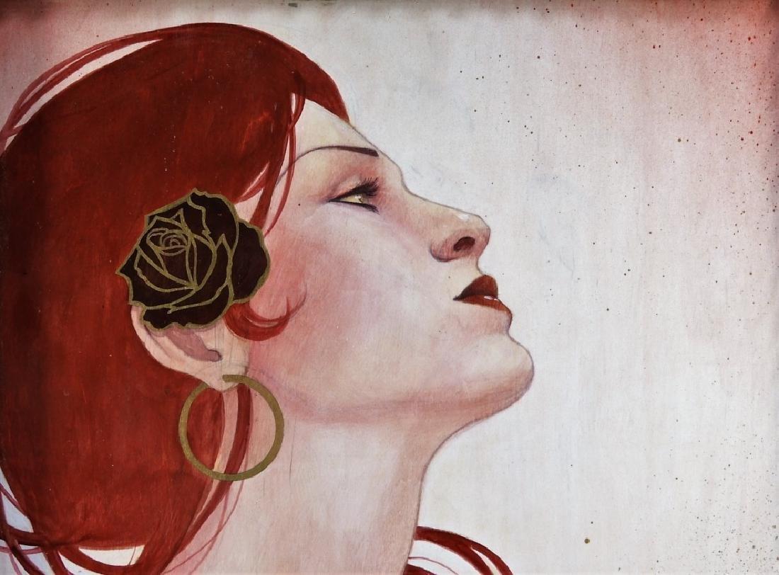 Sylvia Ji Mary M. Urban Female Portrait Painting - 2
