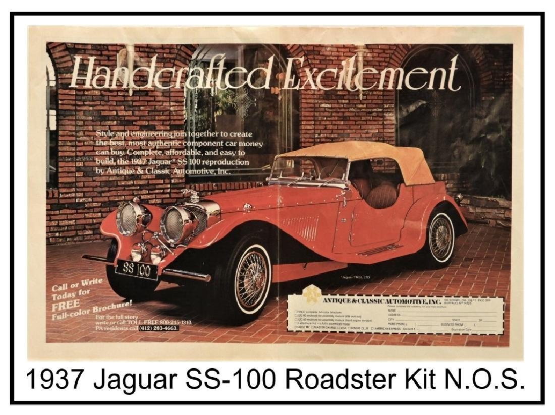 1937 Jaguar SS-100 Roadster Replica Kit Car - 9