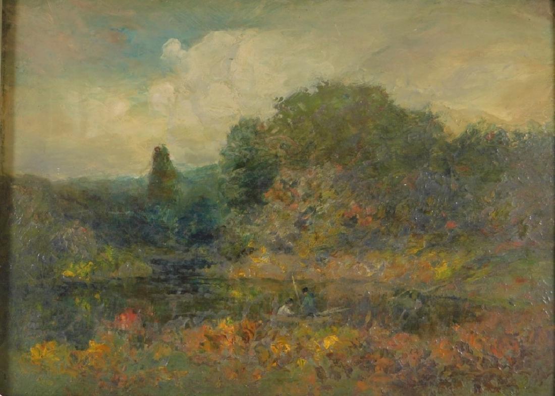 George W. Whitaker OP Barbizon Landscape Painting