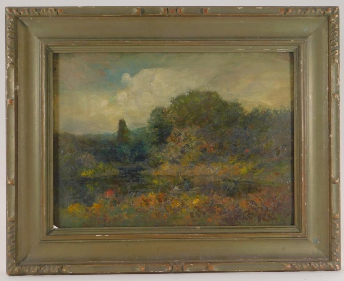 George W. Whitaker OP Barbizon Landscape Painting - 2