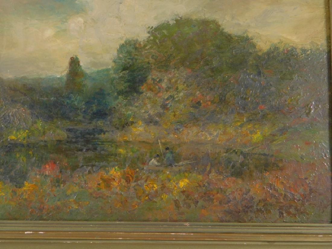 George W. Whitaker OP Barbizon Landscape Painting - 4