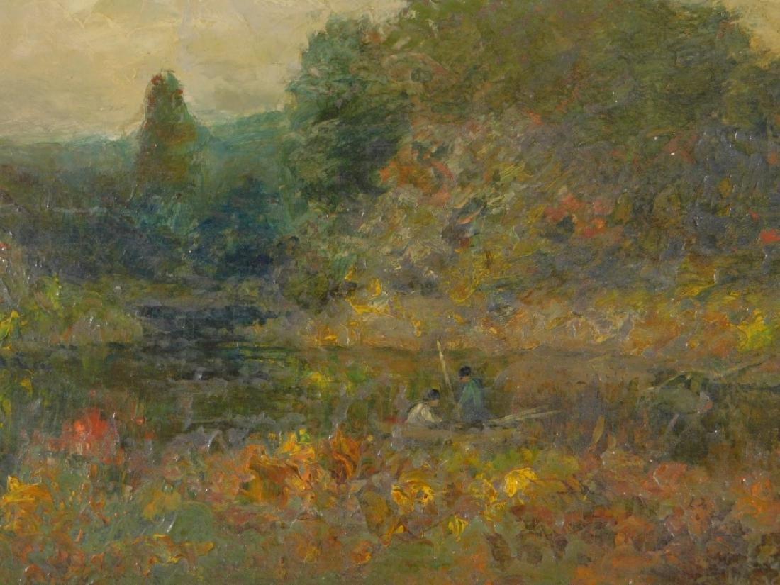 George W. Whitaker OP Barbizon Landscape Painting - 5