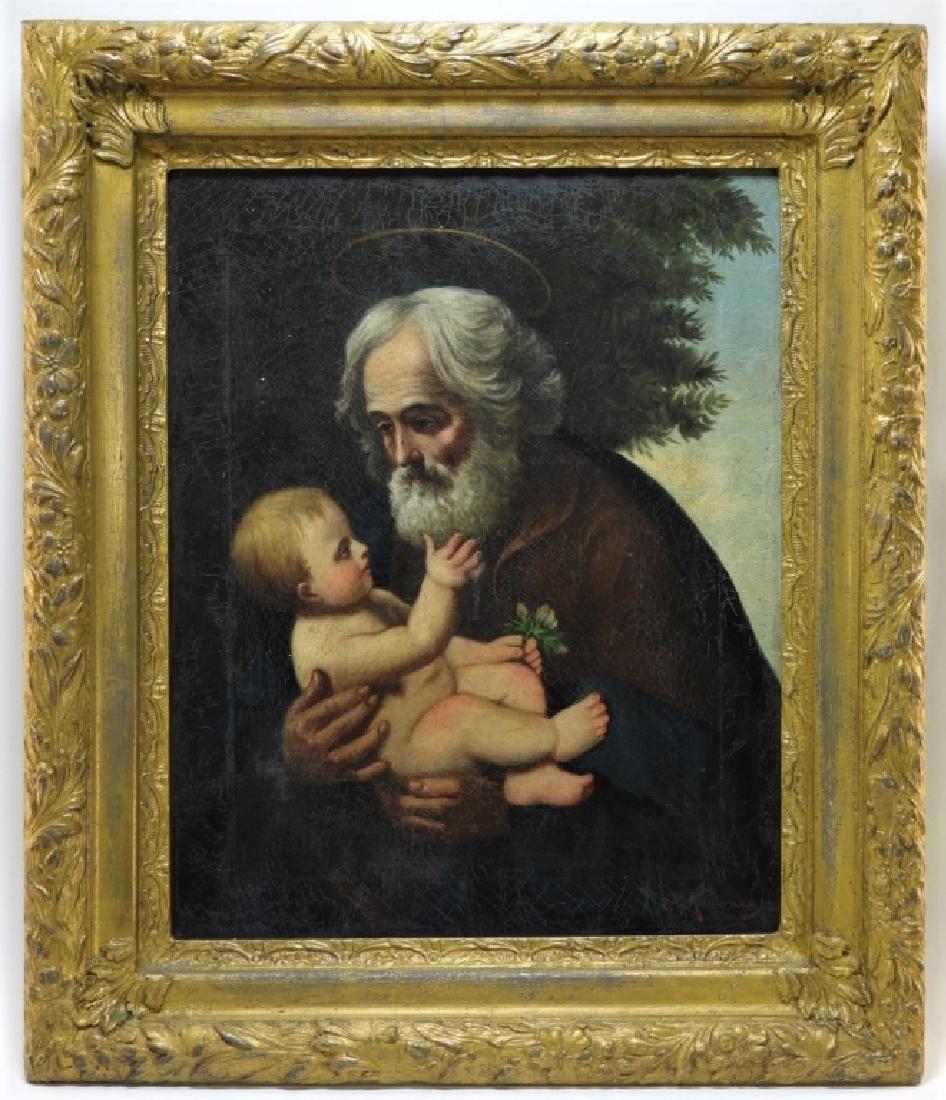 Joseph Kavanagh St Joseph & Christ Icon Painting