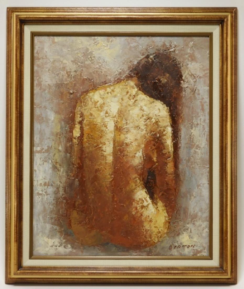 Donald Barton Impressionist Female Nude Painting