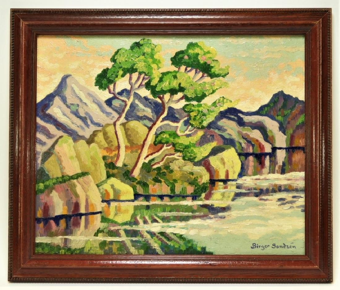 After Birger Sandzen Rocky Mountain Park Oil Painting