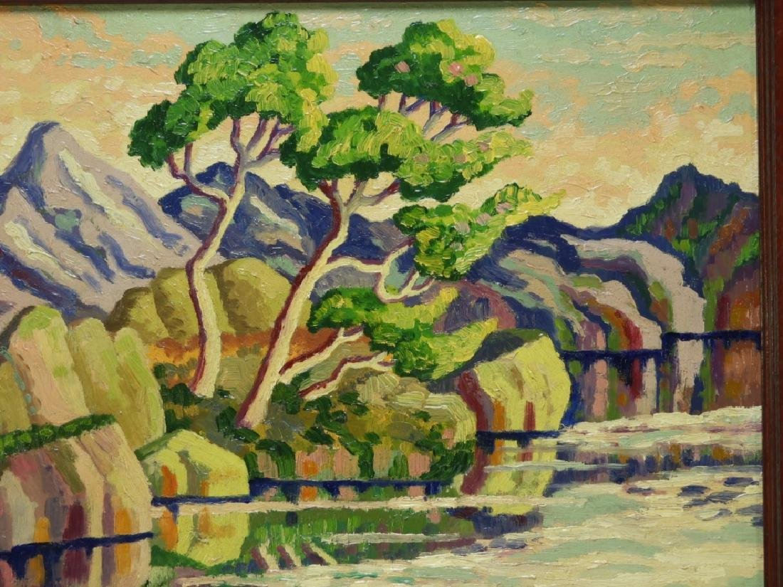 After Birger Sandzen Rocky Mountain Park Oil Painting - 2