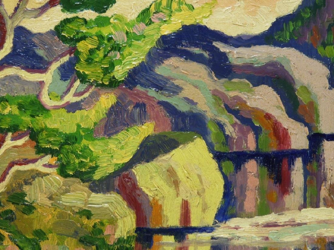 After Birger Sandzen Rocky Mountain Park Oil Painting - 3