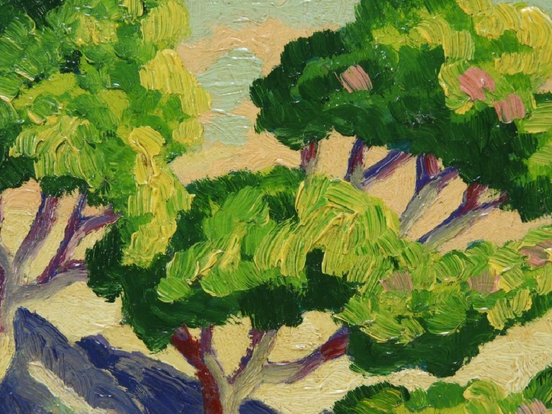 After Birger Sandzen Rocky Mountain Park Oil Painting - 4