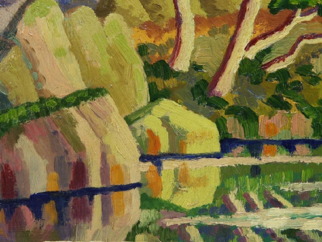 After Birger Sandzen Rocky Mountain Park Oil Painting - 5