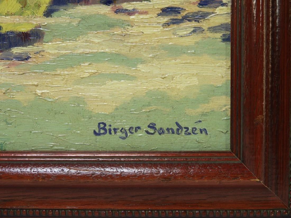 After Birger Sandzen Rocky Mountain Park Oil Painting - 6