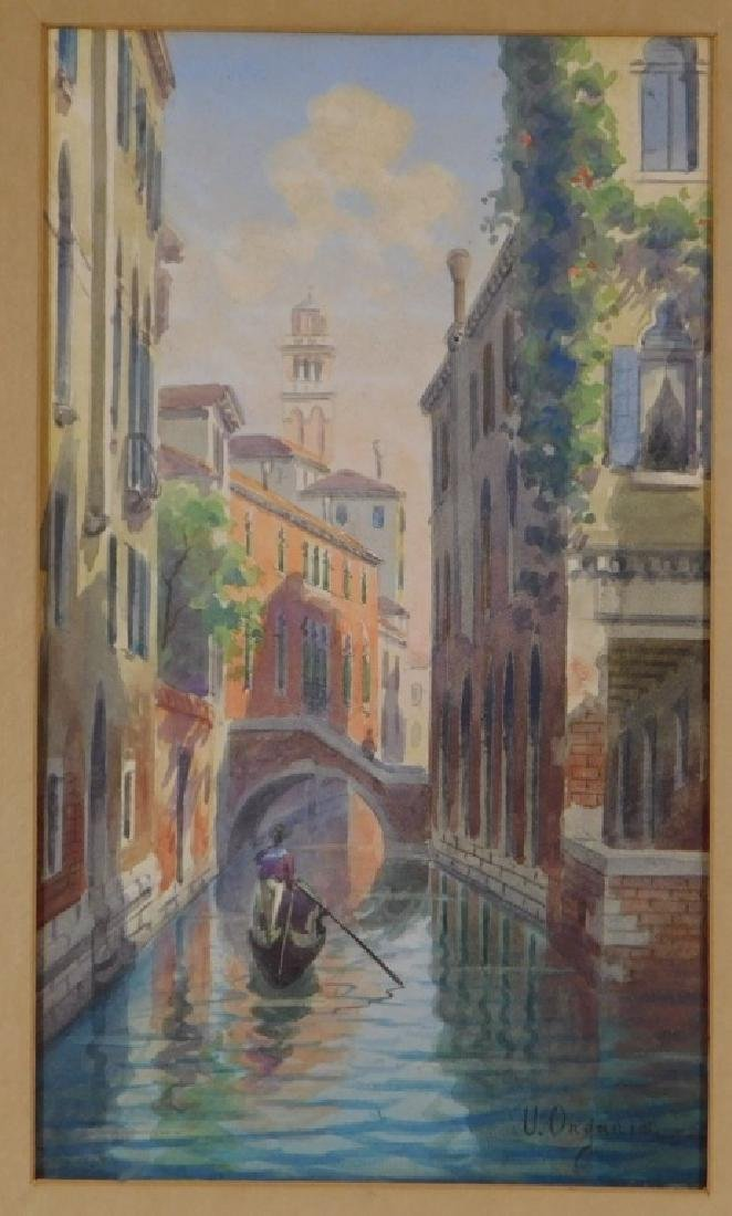 Umberto Ongania WC Painting of a Venice Canal