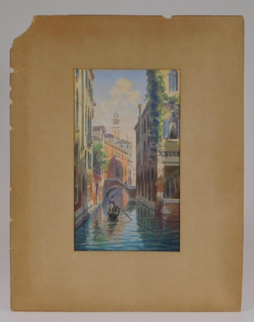 Umberto Ongania WC Painting of a Venice Canal - 2