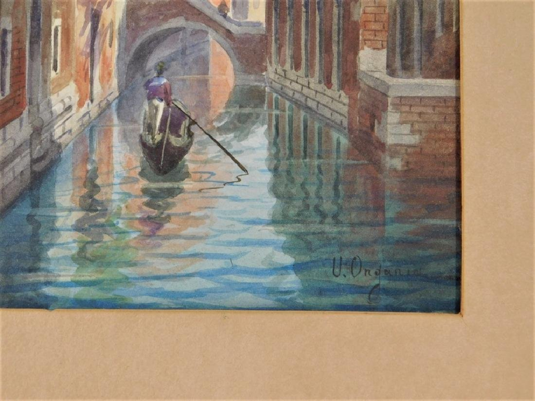 Umberto Ongania WC Painting of a Venice Canal - 4