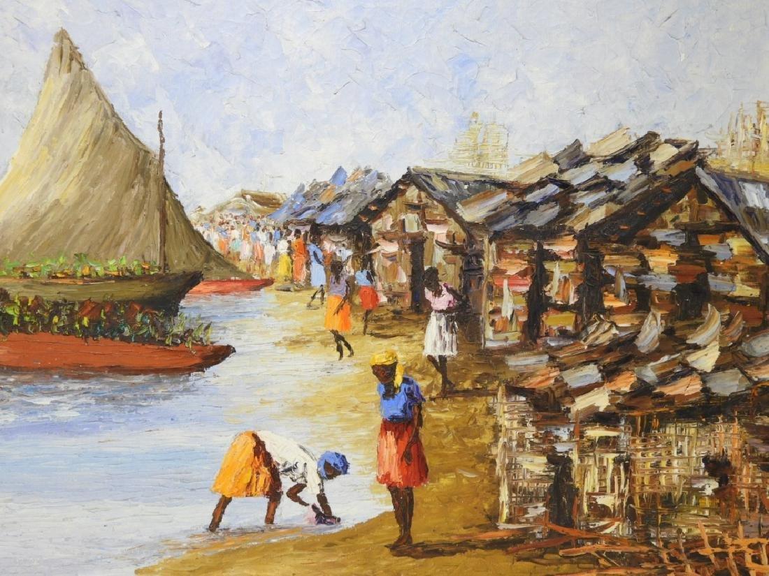 Wesner Pierre-Louis Haitian Village Painting - 2