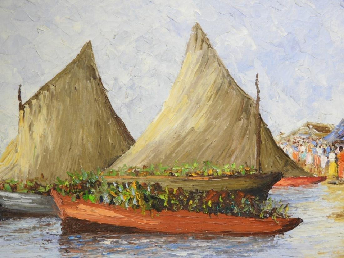 Wesner Pierre-Louis Haitian Village Painting - 3