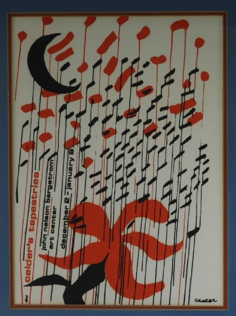 Alexander Calder Tapestries Exhibition Poster