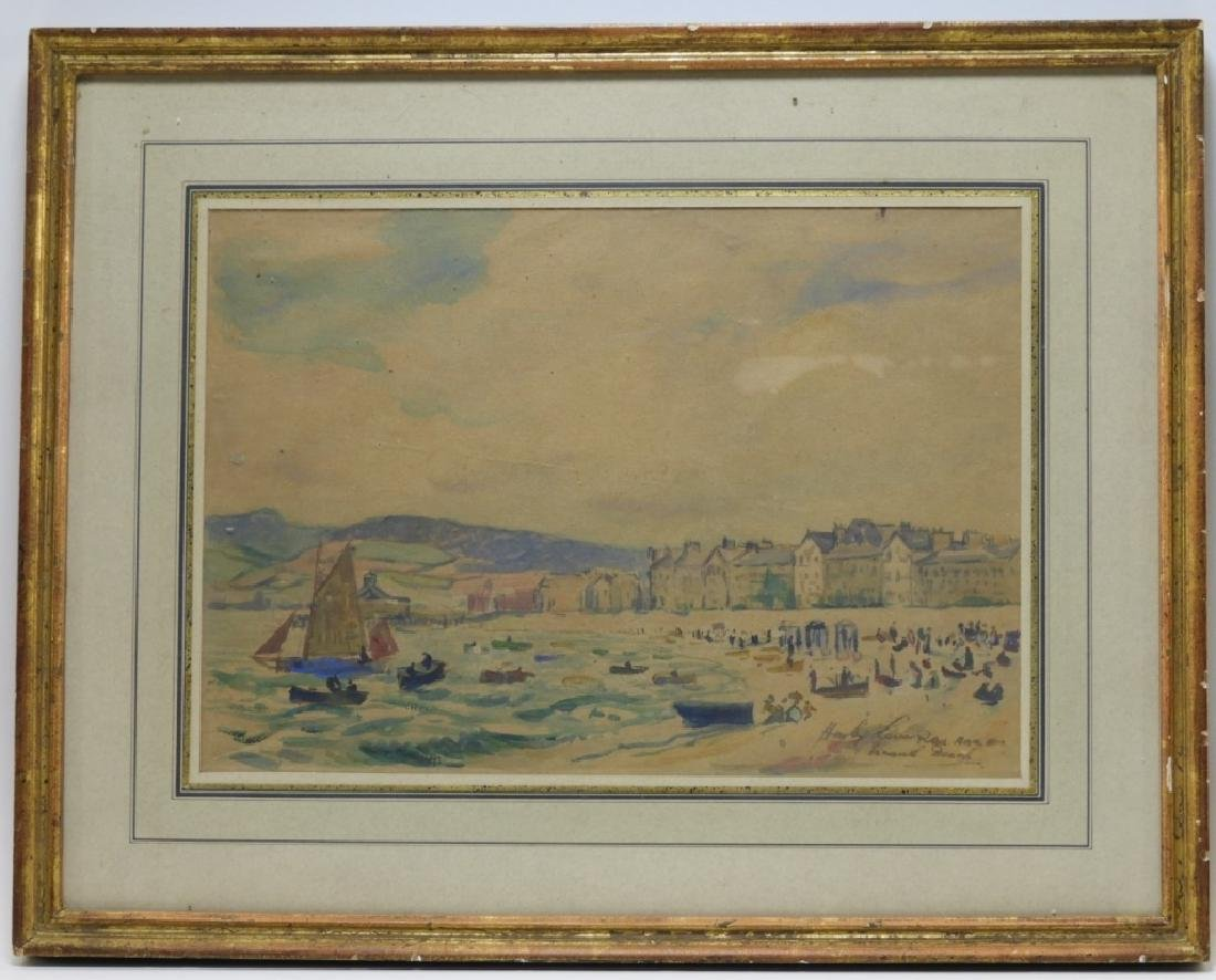 Hayley Lever English Beach Scene WC Painting