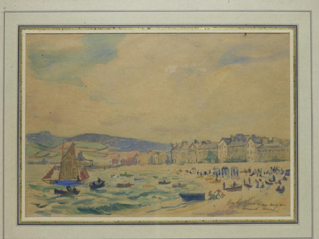 Hayley Lever English Beach Scene WC Painting - 2