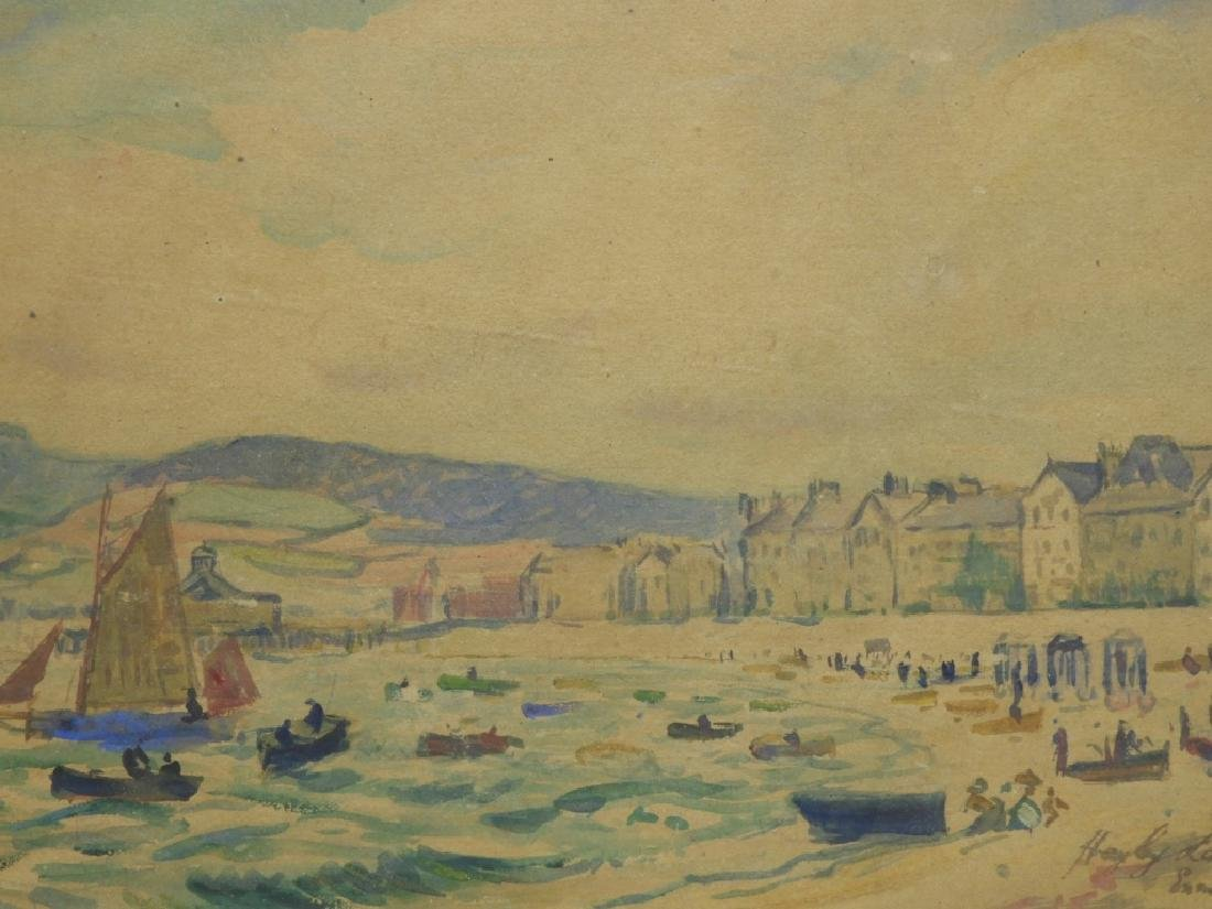 Hayley Lever English Beach Scene WC Painting - 3